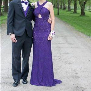 La Femme Plum Prom Dress 22614